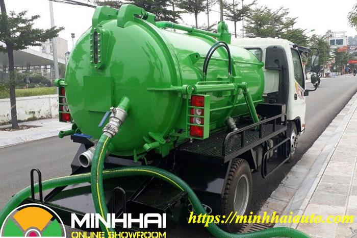 xe hút chất thải 3 khối thaco ollin 350