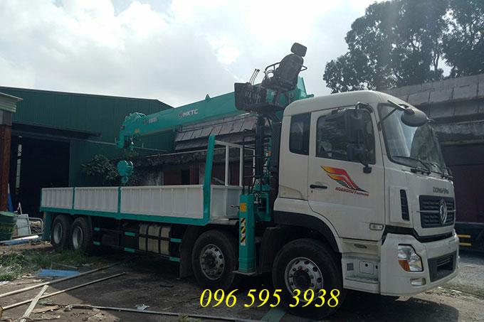 xe tải dongfeng hoàng huy gắn cẩu 10 tấn hktc