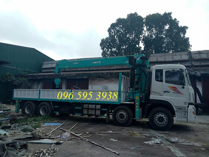 xe tải dongfeng gắn cẩu hktc 10 tấn