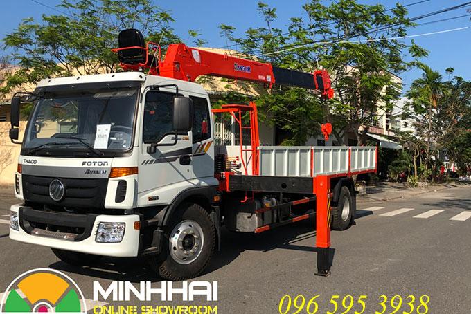 thaco auman c160 gắn cẩu 5 tấn kanglim ks1056