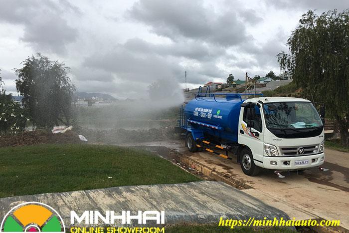 xe nước rửa đường tưới cây ollin 700c