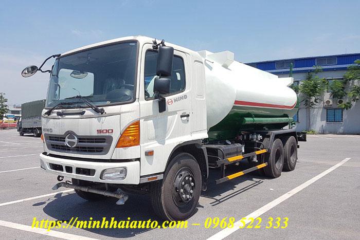 xe phun nước rửa đường hino 15 khối