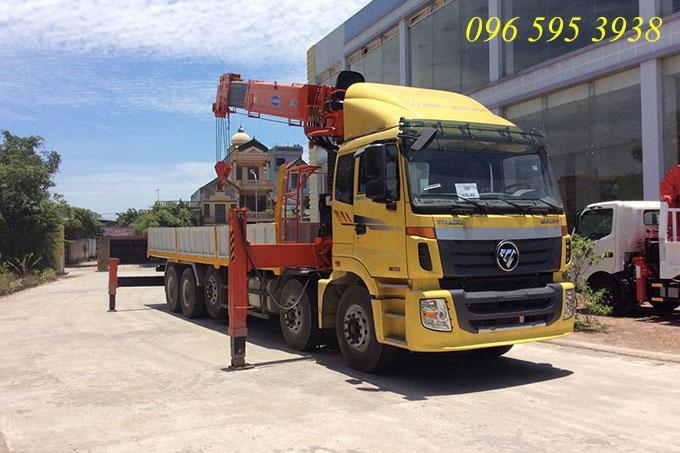 xe tải thaco auman gắn cẩu kanglim 15 tấn