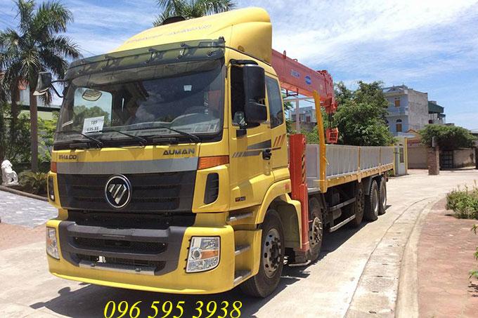 xe tải auman gắn cẩu kanglim 15 tấn