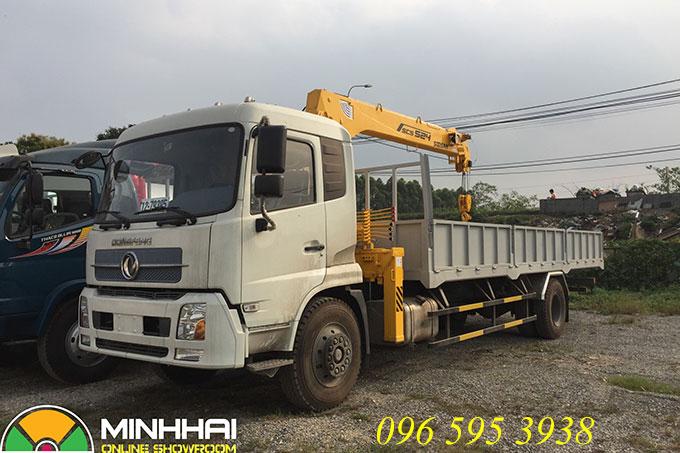 xe tải dongfeng 8 tấn gắn cẩu soosan 5 tấn