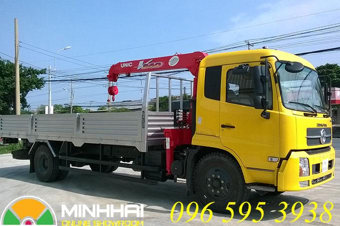 xe tải dongfeng b170 gắn cẩu unic 3 tấn