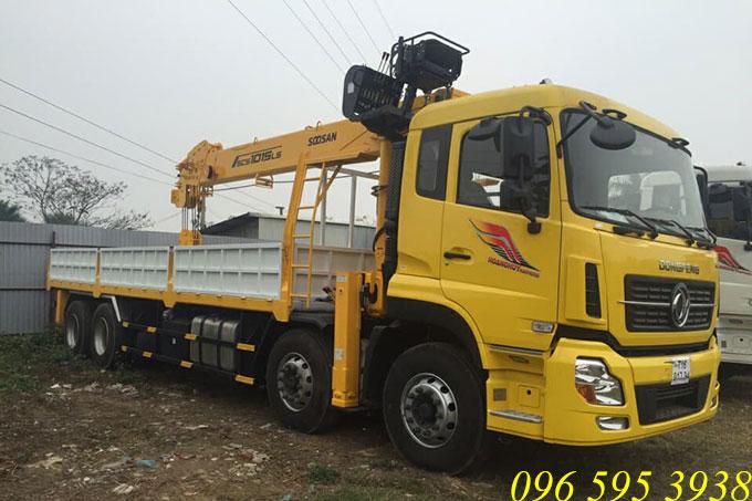 xe tải dongfeng gắn cẩu soosan 10 tấn
