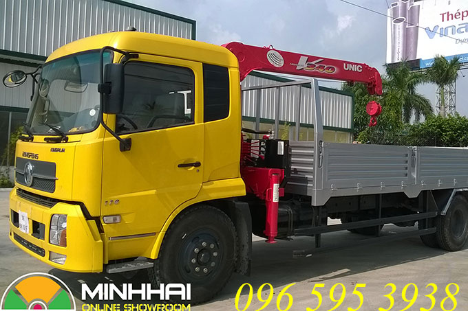 xe tải dongfeng gắn cẩu unic 3 tấn