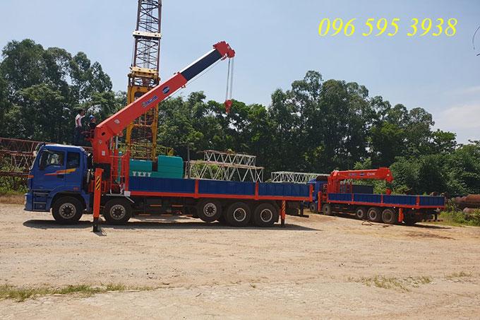 xe tải gắn cẩu kanglim 15 tấn