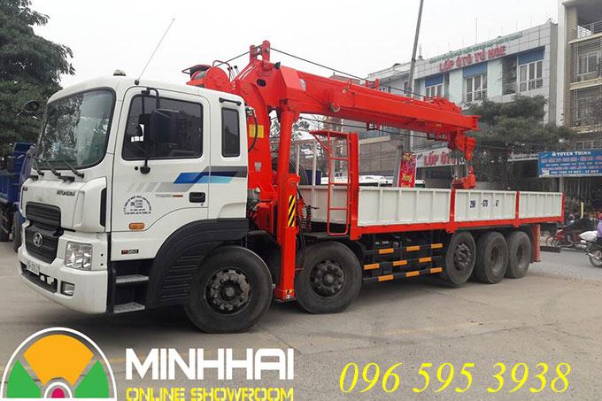 xe tải hyundai 5 chân gắn cẩu kanglim 15 tấn ks5206