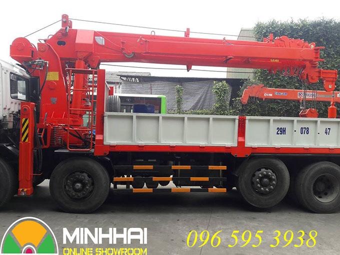 xe tải hyundai gắn cẩu 15 tấn kanglim
