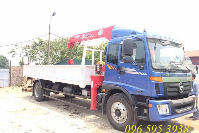 xe tải thaco auman gắn cẩu 5 tấn unic