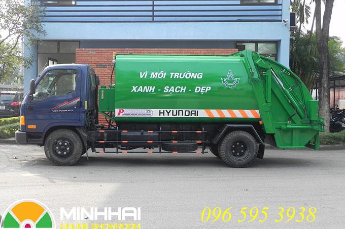 xe ép rác 9 khối hyundai hd700