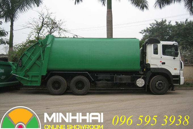 xe ép rác hyundai 22 khối