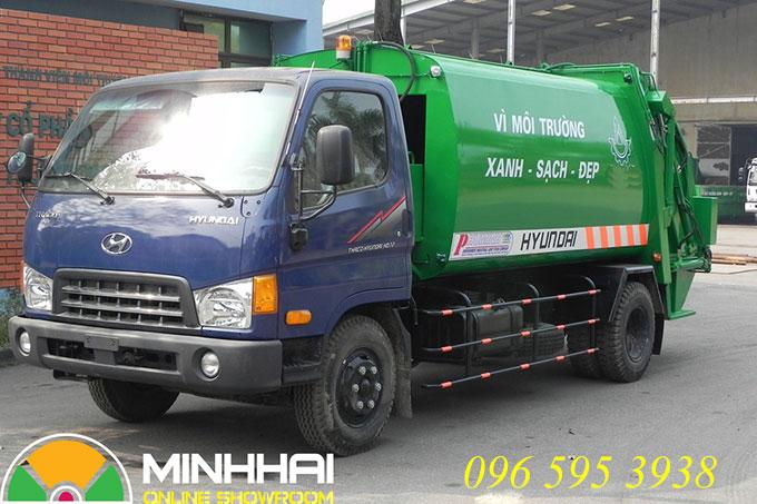 xe ép rác hyundai hd700