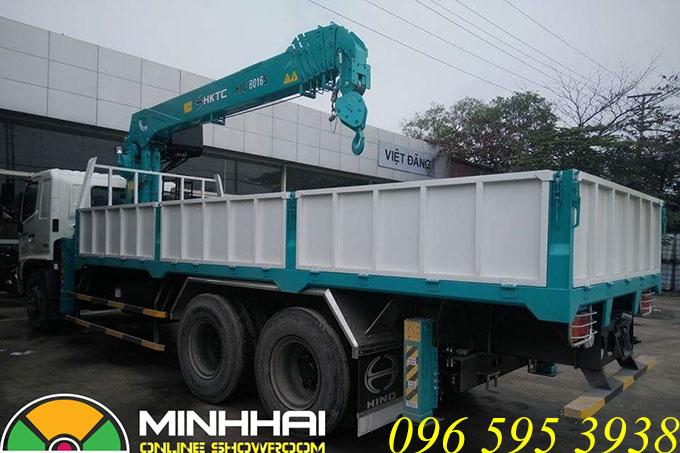 xe tải hino 16 tấn gắn cẩu hktc 7 tấn