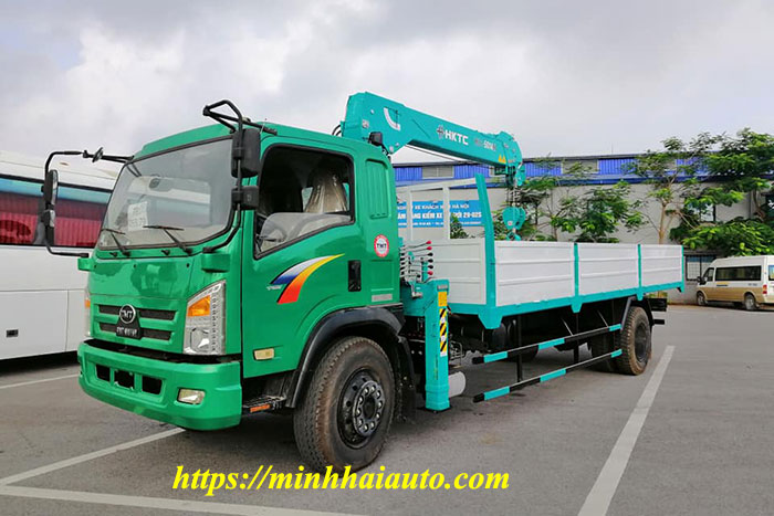 xe tải tmt gắn cẩu hktc 5 tấn