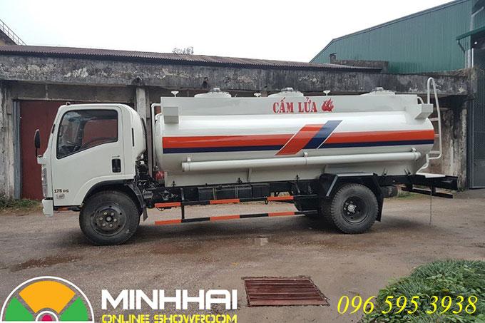 xe bồn chở xăng dầu 12 khối vĩnh phát