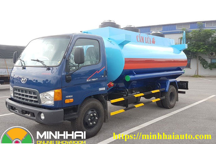 xe bồn chở xăng dầu 9 khối hyundai hd800