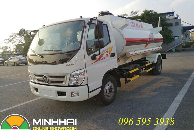 xe bồn chở xăng dầu 9 khối ollin 700c