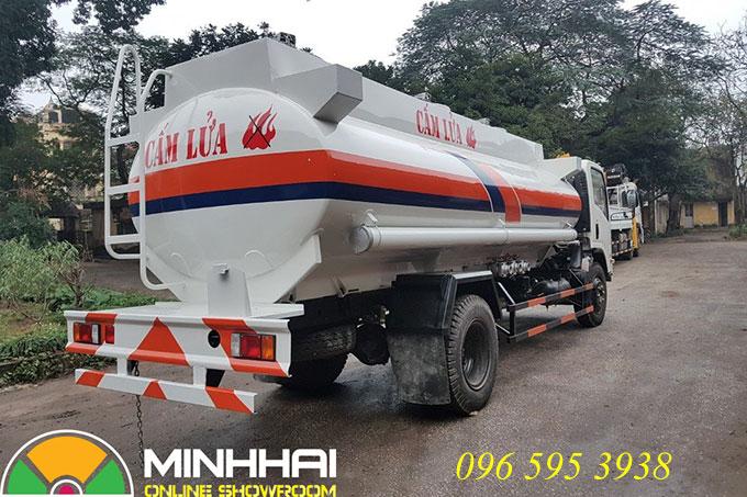 xe bồn chở xăng dầu 12 khối isuzu vĩnh phát