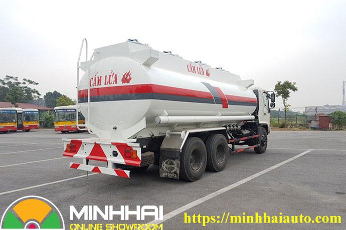 xe bồn xi téc chở xăng dầu hino fm