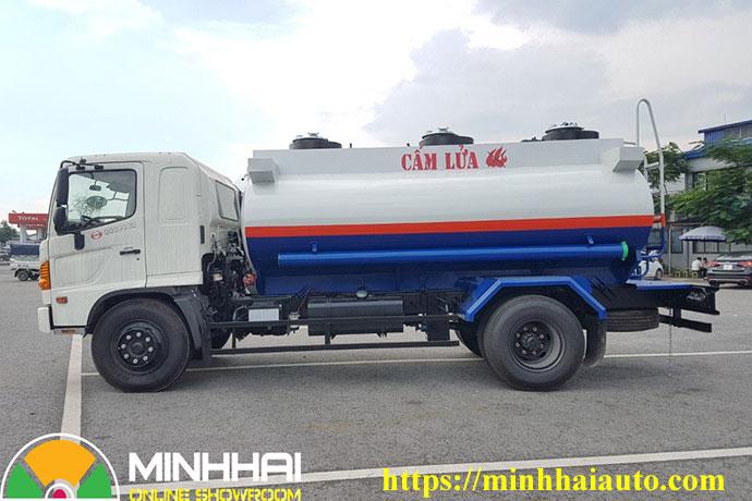 xe bồn xitec chở xăng dầu hino 11 khối