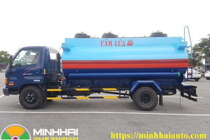 xe chở xăng dầu 9 khối hyundai
