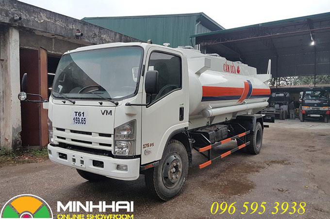 xe téc chở xăng dầu 12 khối isuzu vĩnh phát