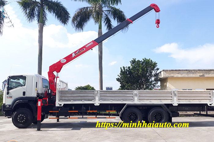 xe tải isuzu 15 tấn gắn cẩu unic 5 tấn