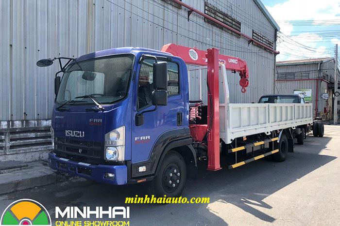 xe tải isuzu gắn cẩu unic 3 tấn