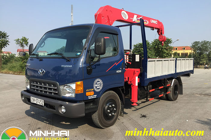 hyundai hd99 gắn cẩu unic 3 tấn