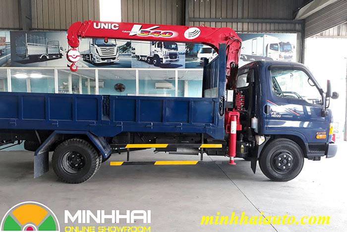 xe tải cẩu hyundai 5 tấn hd99 gắn cẩu unic 340