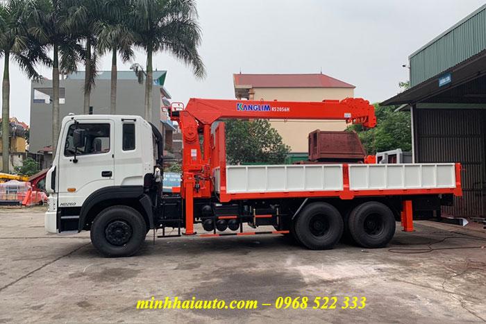 hyundai hd260 gắn cẩu 7 tấn kanglim