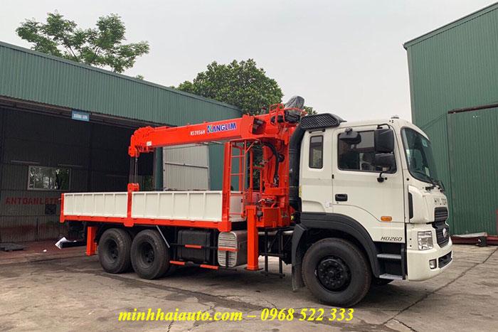 hyundai hd260 gắn cẩu kanglim 7 tấn