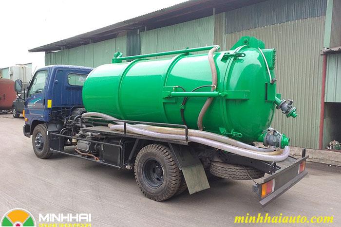 xe hút chất thải hyundai 5,5 khối new mighty 110s