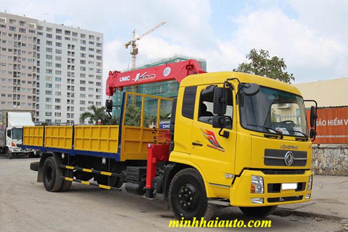 xe tải dongfeng 8 tấn gắn cẩu unic 5 tấn