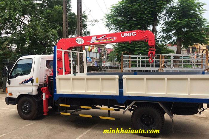 xe tải hd72 gắn cẩu