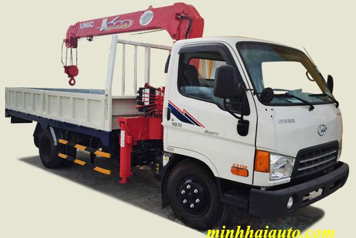 xe tải Hyundai HD72 gắn cẩu Unic 3 tấn