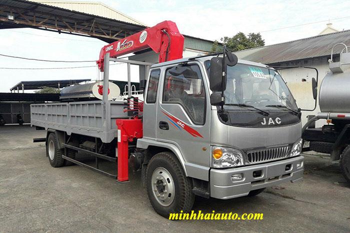 xe tải jac 8.4 tấn gắn cẩu unic 5 tấn