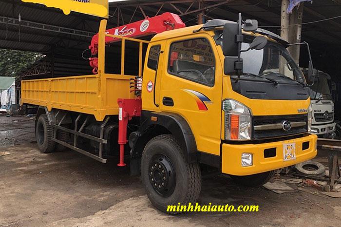 xe tải tmt cửu long 7.5 tấn gắn cẩu unic 3 tấn