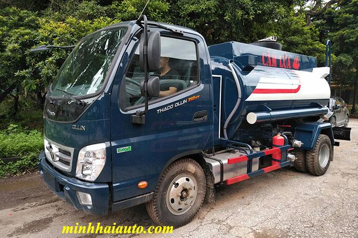 xe bồn chở xăng dầu 4 khối ollin 350