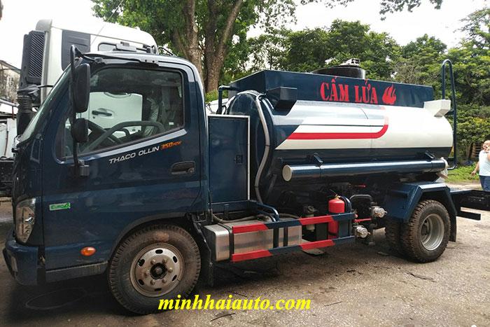 xe bồn chở xăng dầu ollin 350